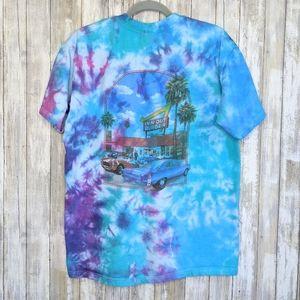 Vtg In n Out Burger Tie Dye Large T-shirt Vintage